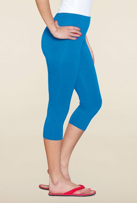 Sweet Dreams Royal Blue Cotton Lycra Capri