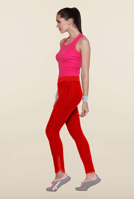 Sweet Dreams Spicy Red Solid Track Pant