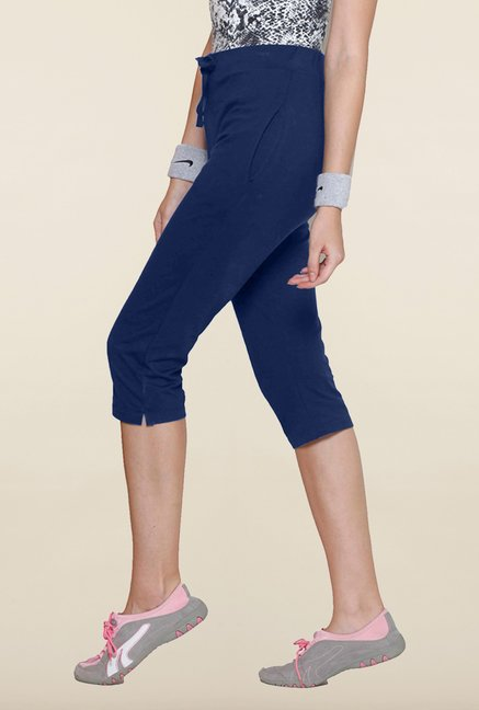 Sweet Dreams Navy Cotton Lycra Capri