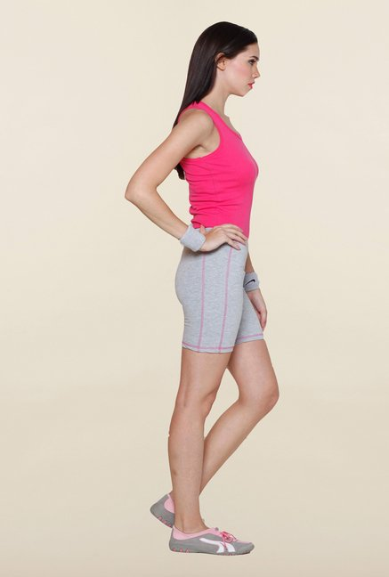Sweet Dreams Grey Solid Comfort Fit Shorts