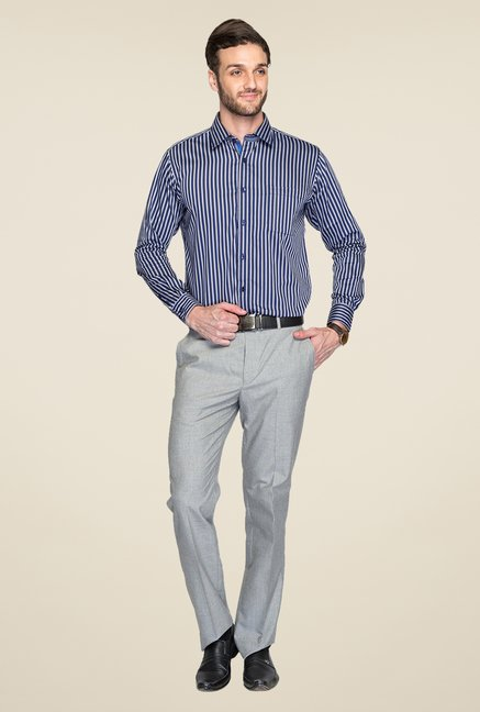 Raymond Navy & White Striped Shirt