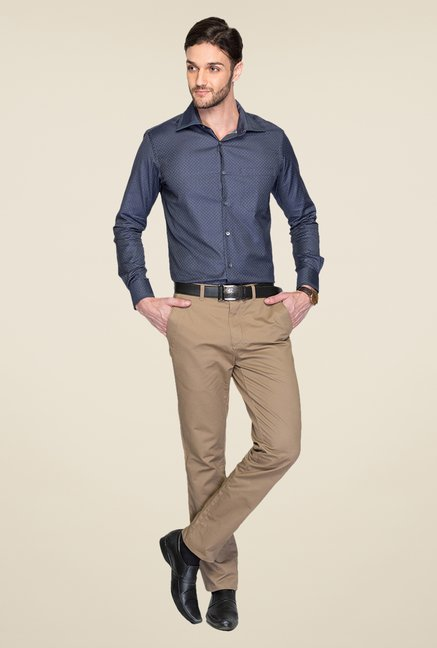 Raymond Navy Printed Shirt
