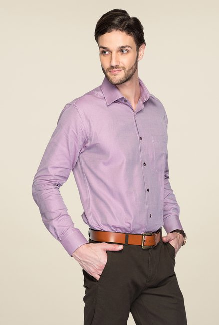 Raymond Purple Printed Shirt