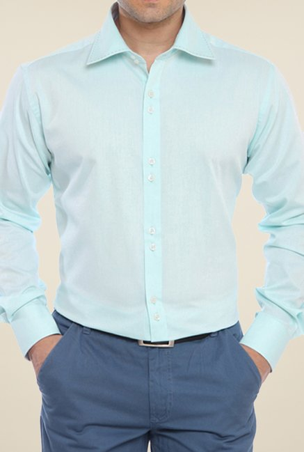 Raymond Green Solid Shirt
