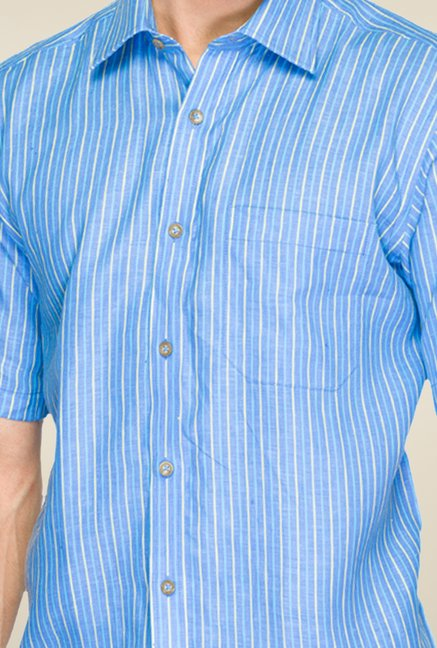 Raymond Blue Striped Linen Shirt