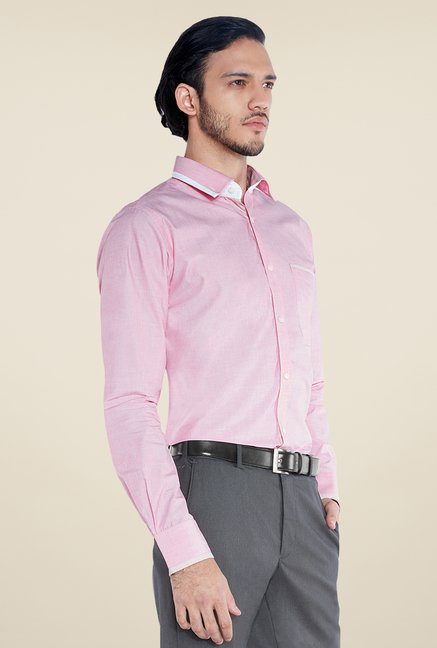 Raymond Red Solid Shirt