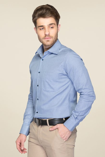Raymond Blue Textured Shirt