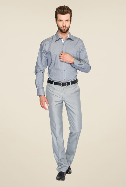 Raymond Grey Solid Shirt