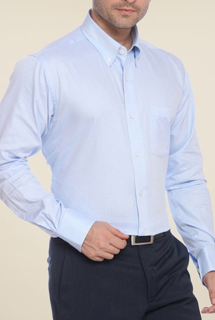 Raymond Blue Solid Shirt