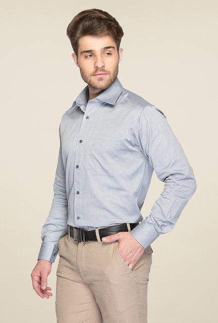 Raymond Grey Self Printed Shirt