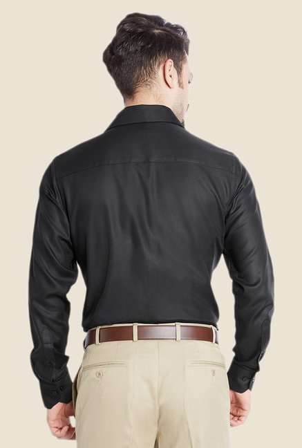 Raymond Black Solid Shirt