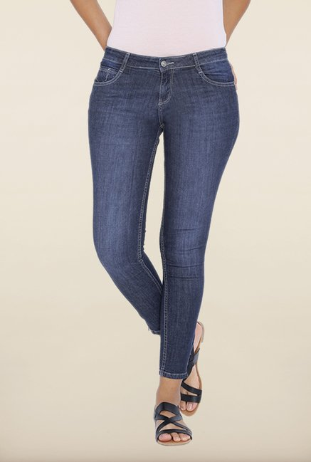 Kraus Blue Mid Rise Jeans