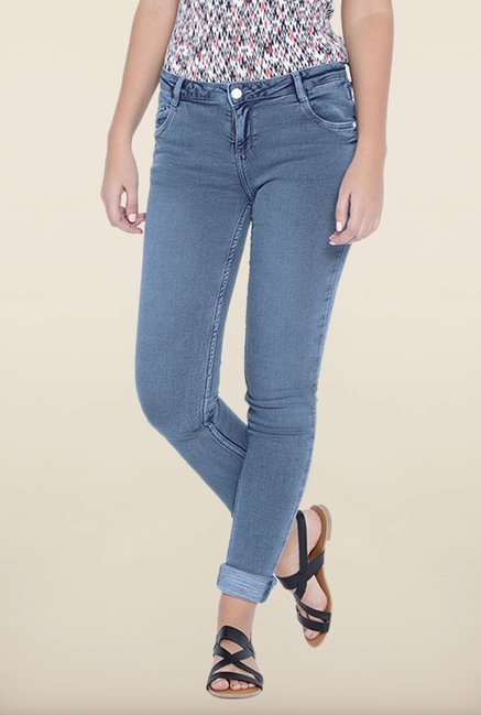 Kraus Mid Blue Light Wash Skinny Fit Jeans