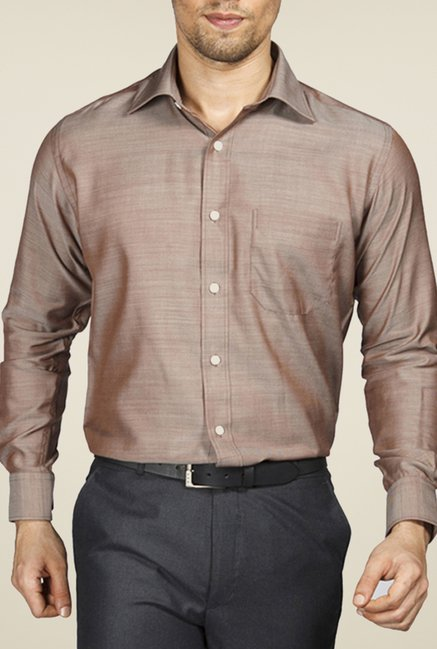 Raymond Brown Solid Shirt
