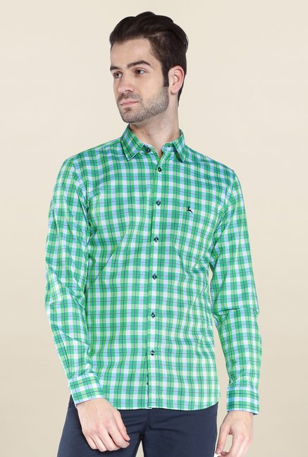 Parx Green Checks Shirt