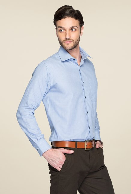 Raymond Blue Printed Shirt