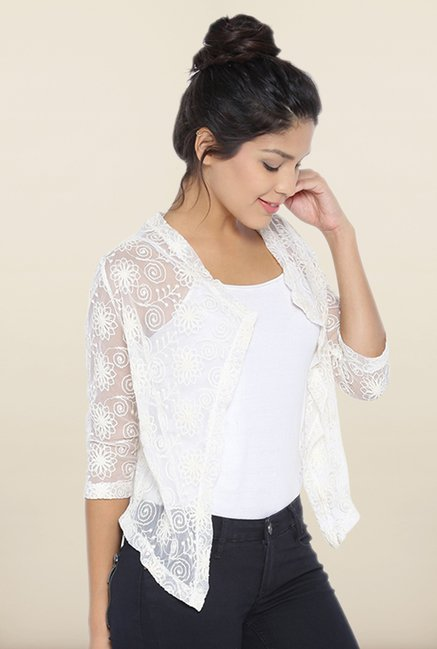 Kraus White Embroidered Top