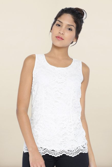 Kraus White Lace Top