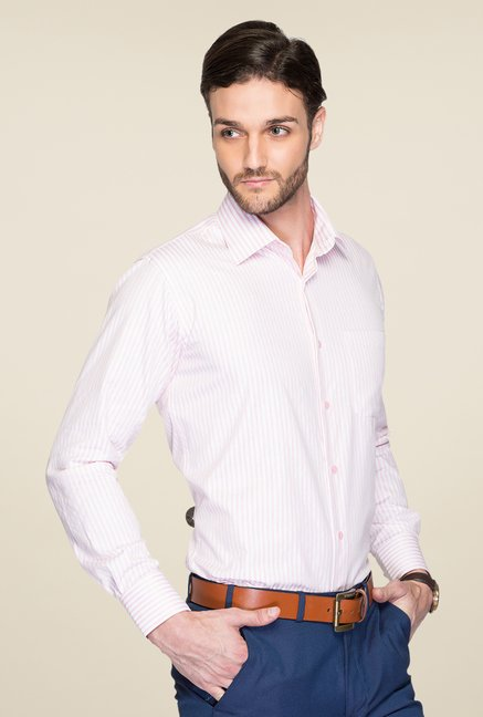 Raymond White & Pink Striped Shirt