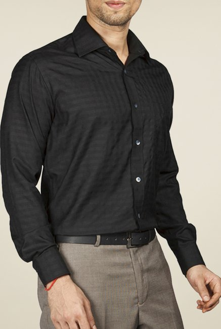 Raymond Black Striped Shirt