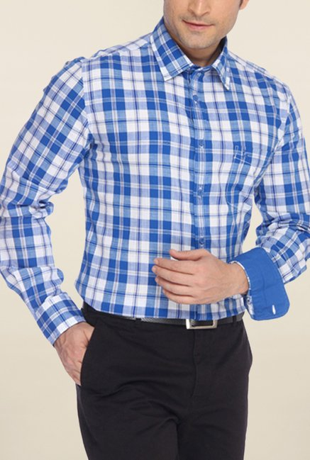 Parx Blue Checks Shirt