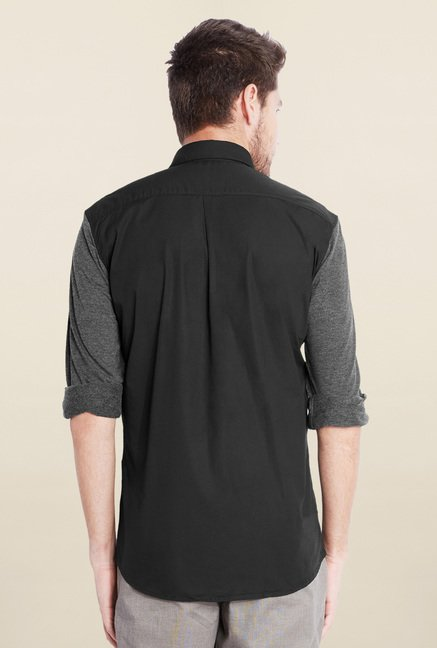 Parx Black Solid Shirt
