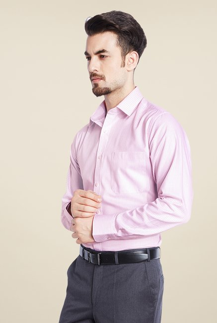 Raymond Pink Striped Shirt