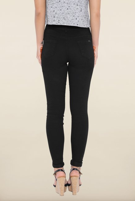 Kraus Black Skinny Fit Jeggings