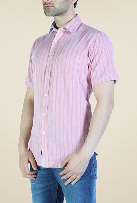 Raymond Purple Striped Shirt