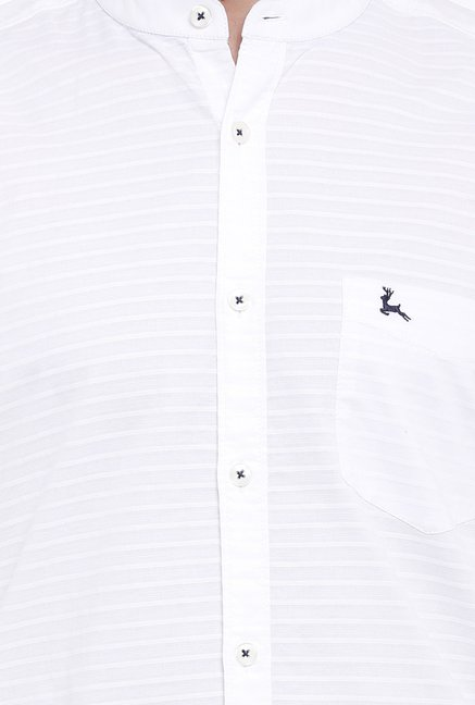 Parx White Striped Shirt