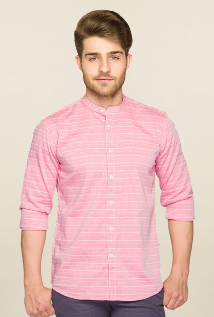 Parx Pink Striped Shirt