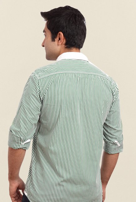 Parx Green Striped Shirt