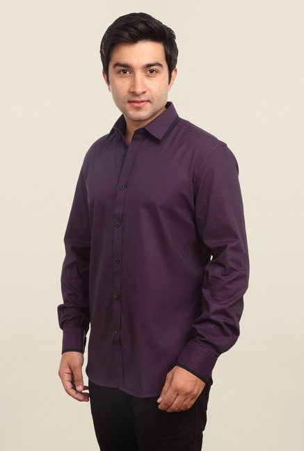 Parx Purple Solid Shirt