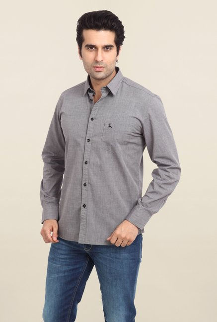 Parx Grey Solid Shirt