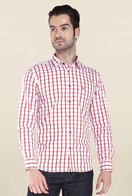 Parx Red & White Checks Shirt