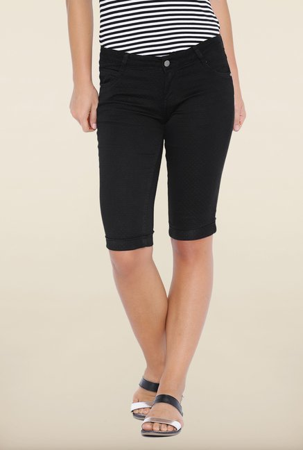 Kraus Black Denim Capris