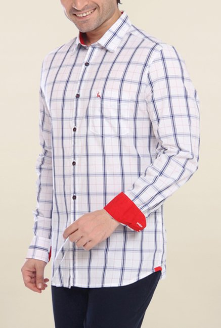 Parx Indigo & White Checks Shirt