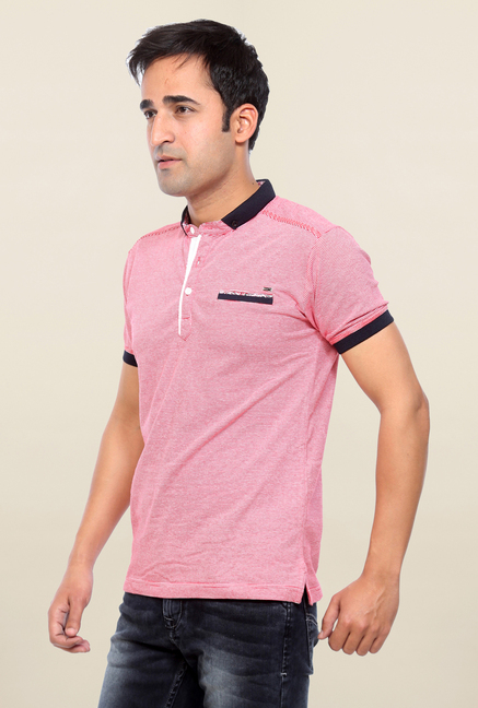 Mufti Pink Striped T Shirt