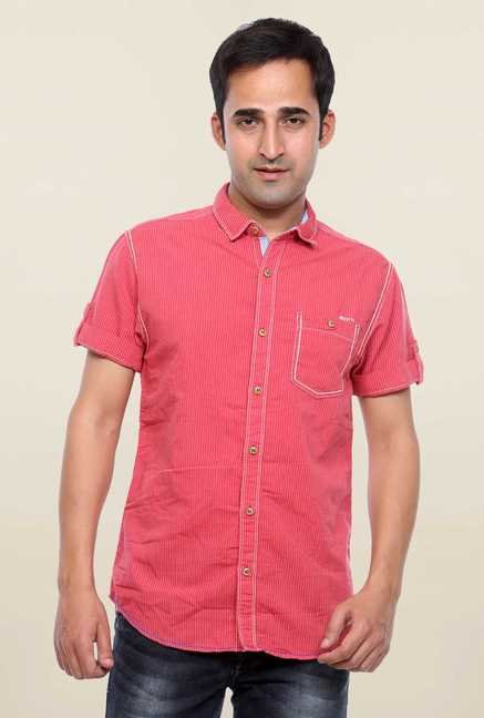 Mufti Pink Slim Fit Shirt