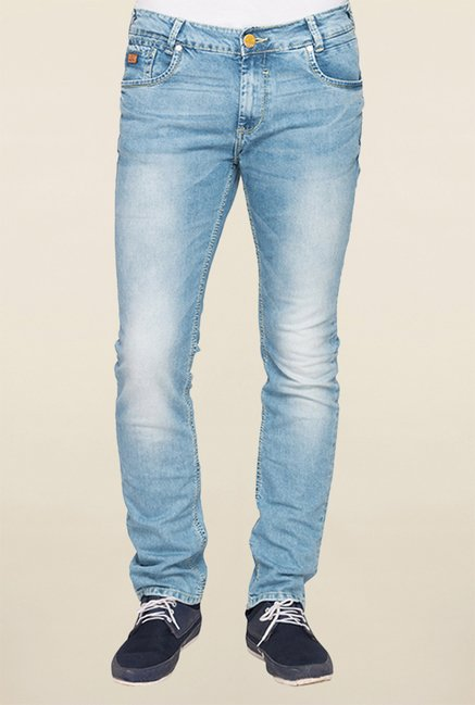 Mufti Light Blue Slim Fit Jeans