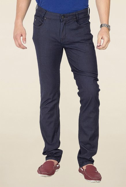 Mufti Blue Raw Denim Slim Fit Jeans