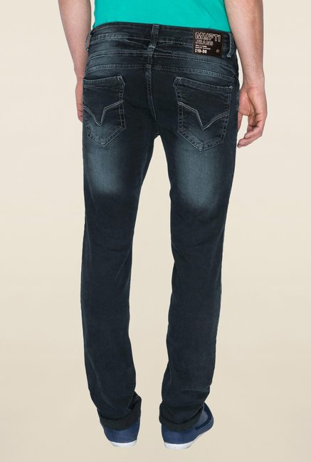 Mufti Black Acid Wash Jeans