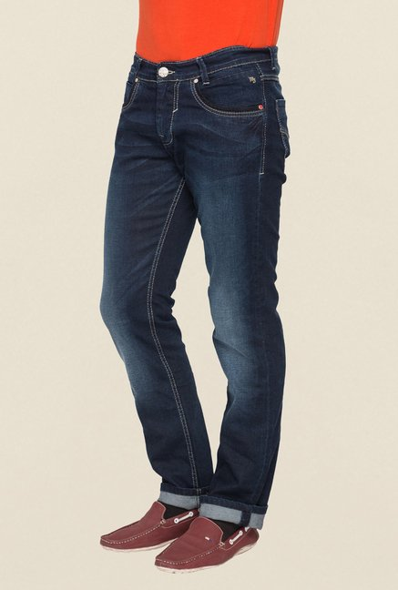 Mufti Navy Straight Fit Jeans