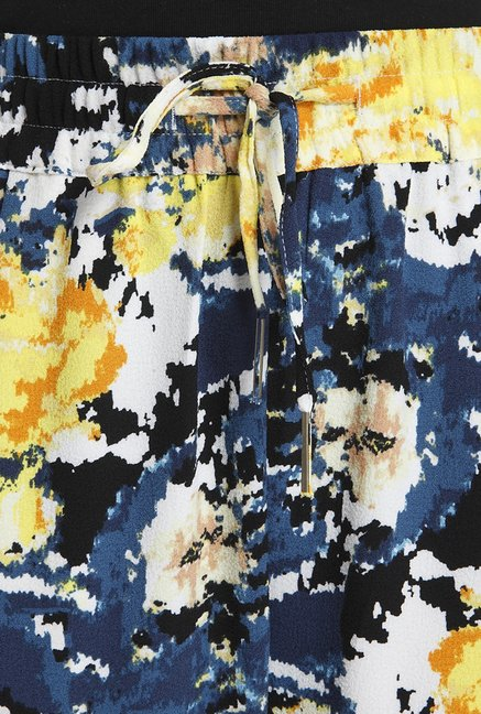 Only Yellow & Navy Printed Pyjama