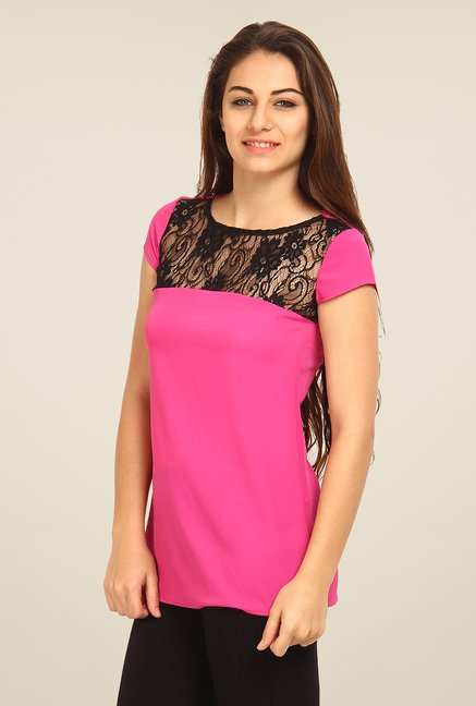 Avirate Fuchsia Lace Top