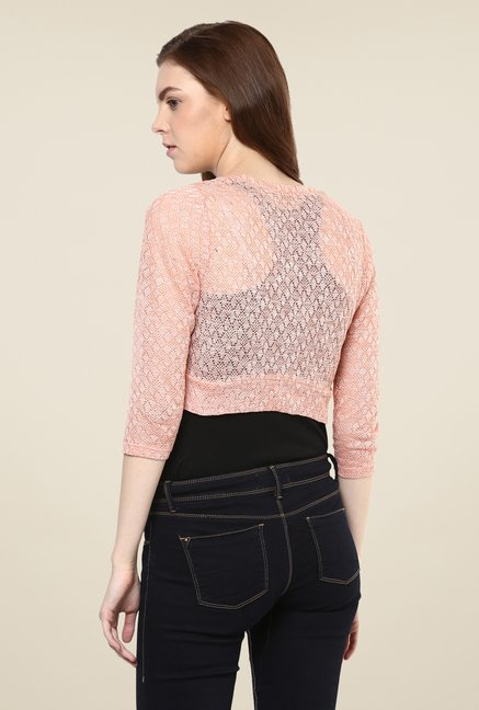 Avirate Peach Woven Shrug