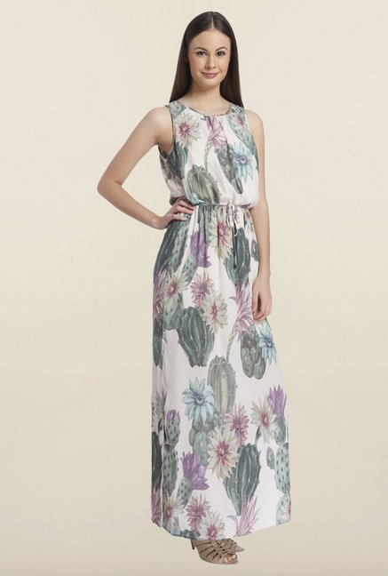 Only White Floral Printed Maxi Dress