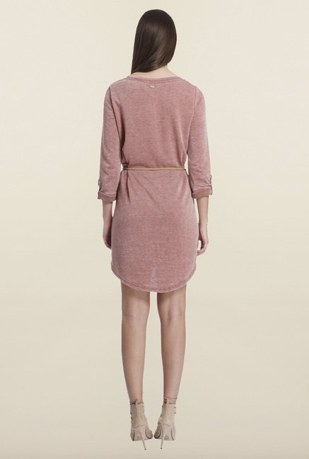 Only Marsala Solid Shift Dress