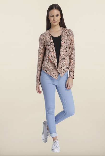 Only Brown Printed Blazer