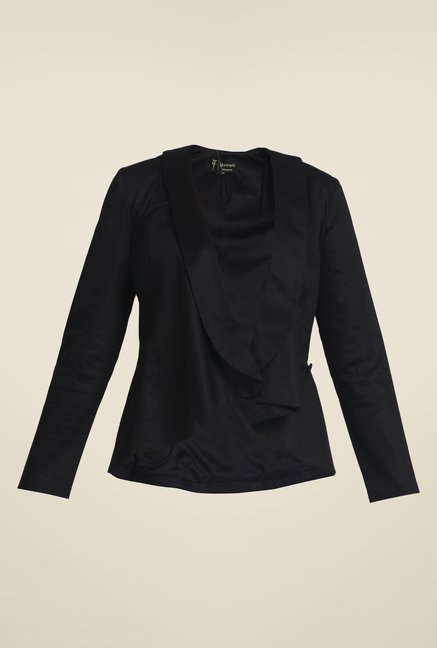 Avirate Black Solid Jacket